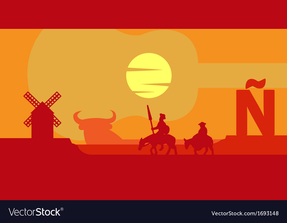 Spain landscape vector | Price: 1 Credit (USD $1)