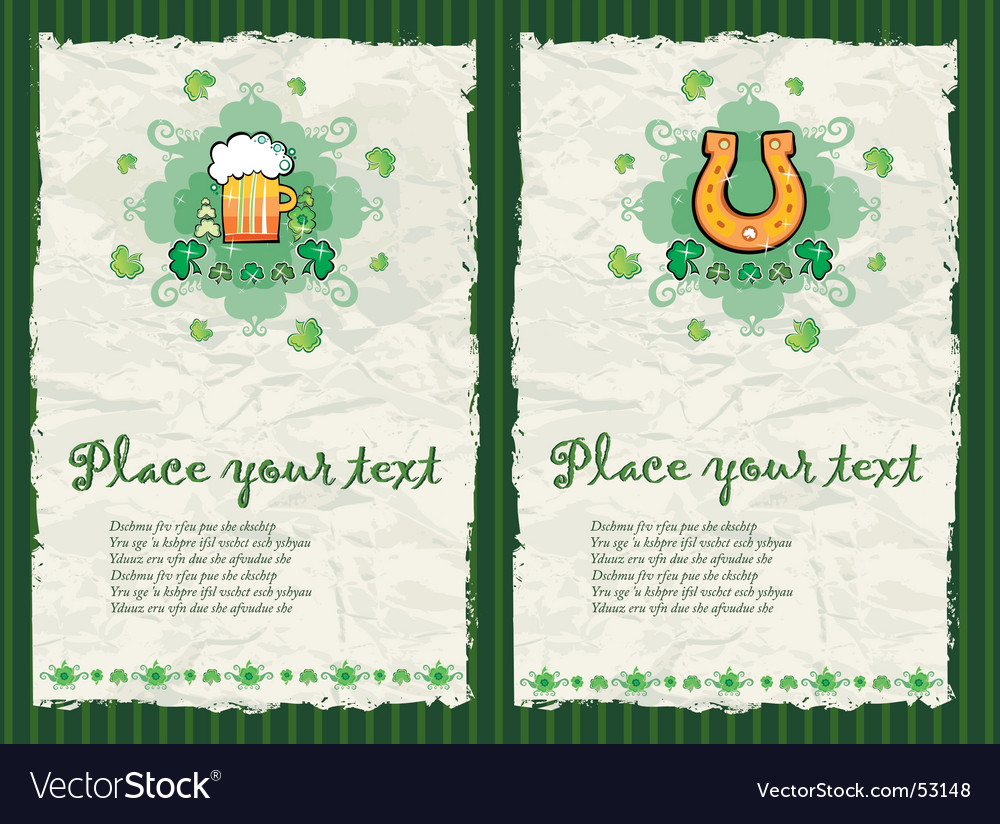 St. patrick's day backgrounds vector | Price: 1 Credit (USD $1)