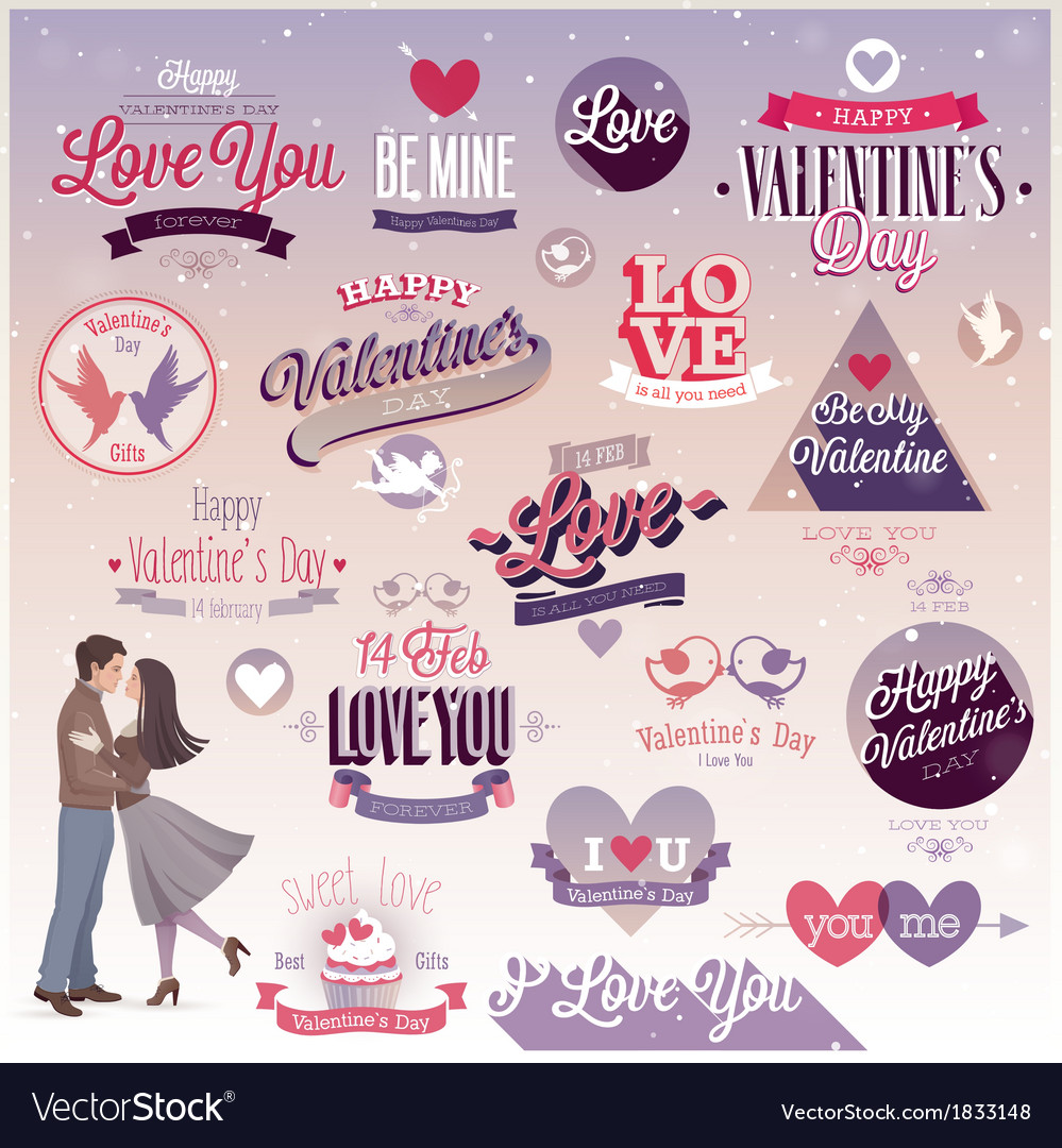 Valentine emblems2 vector | Price: 3 Credit (USD $3)