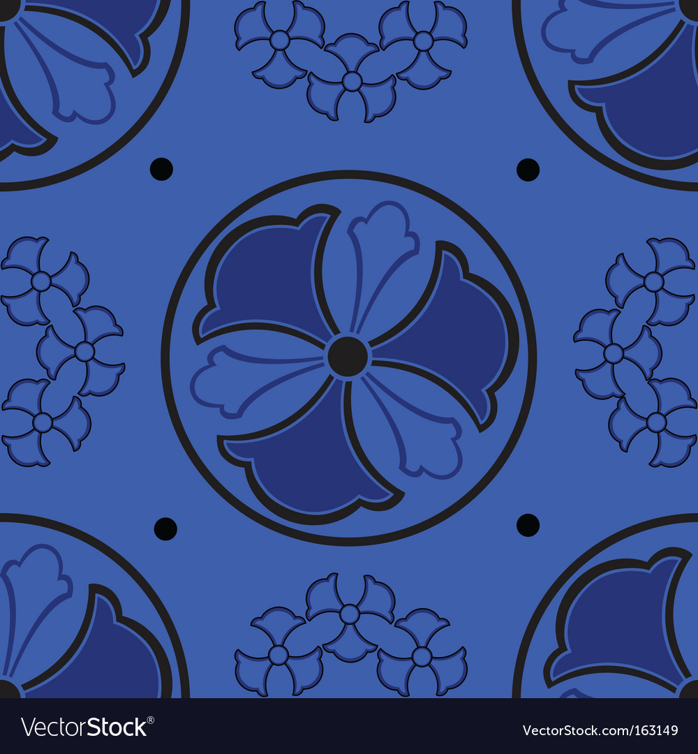 Abstract blue seamless pattern vector | Price: 1 Credit (USD $1)