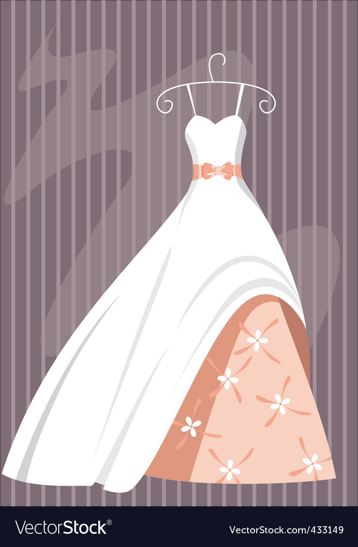 Ball dress vector | Price: 1 Credit (USD $1)