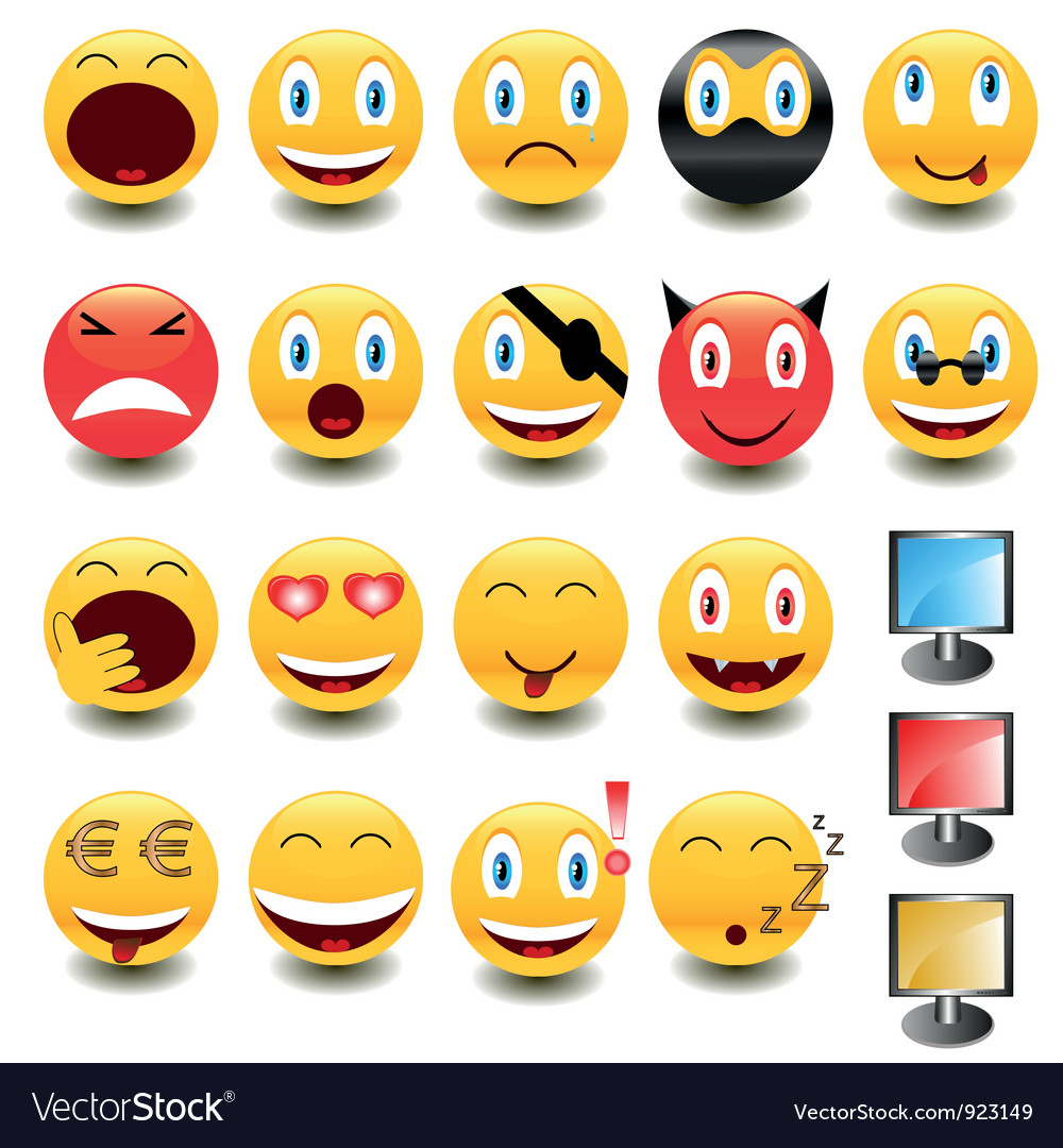 Big set of smiles vector | Price: 1 Credit (USD $1)