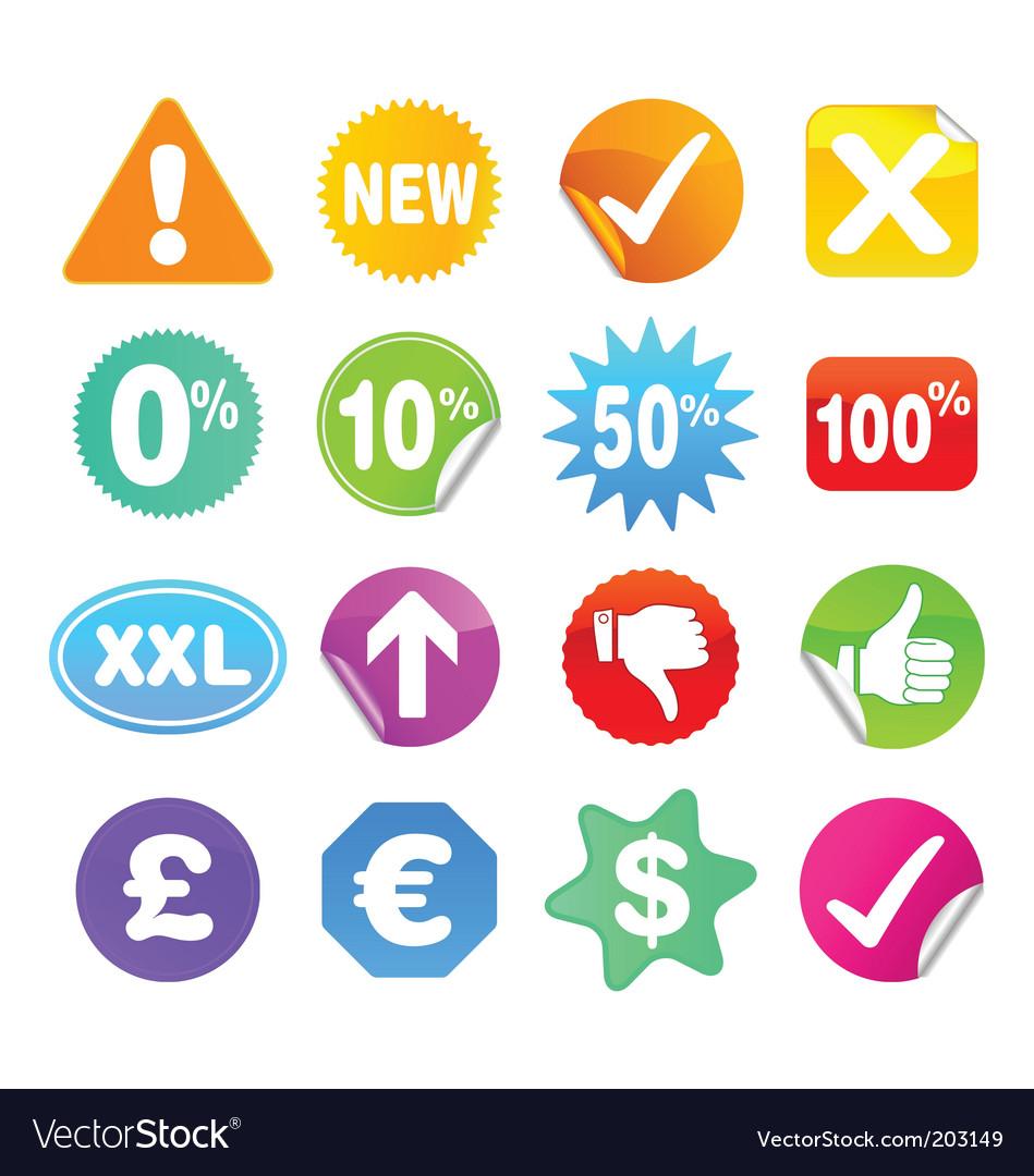 Bright stickers vector | Price: 1 Credit (USD $1)