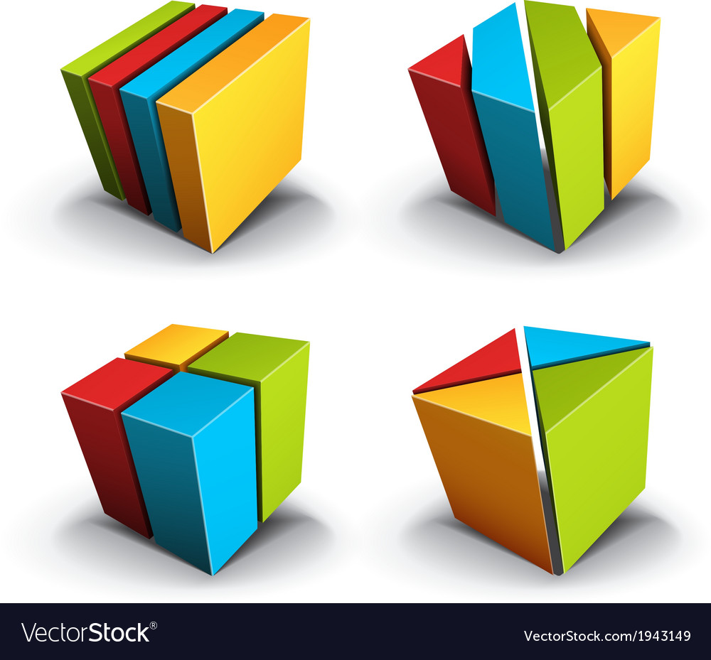 Cubes desgin element vector | Price: 1 Credit (USD $1)