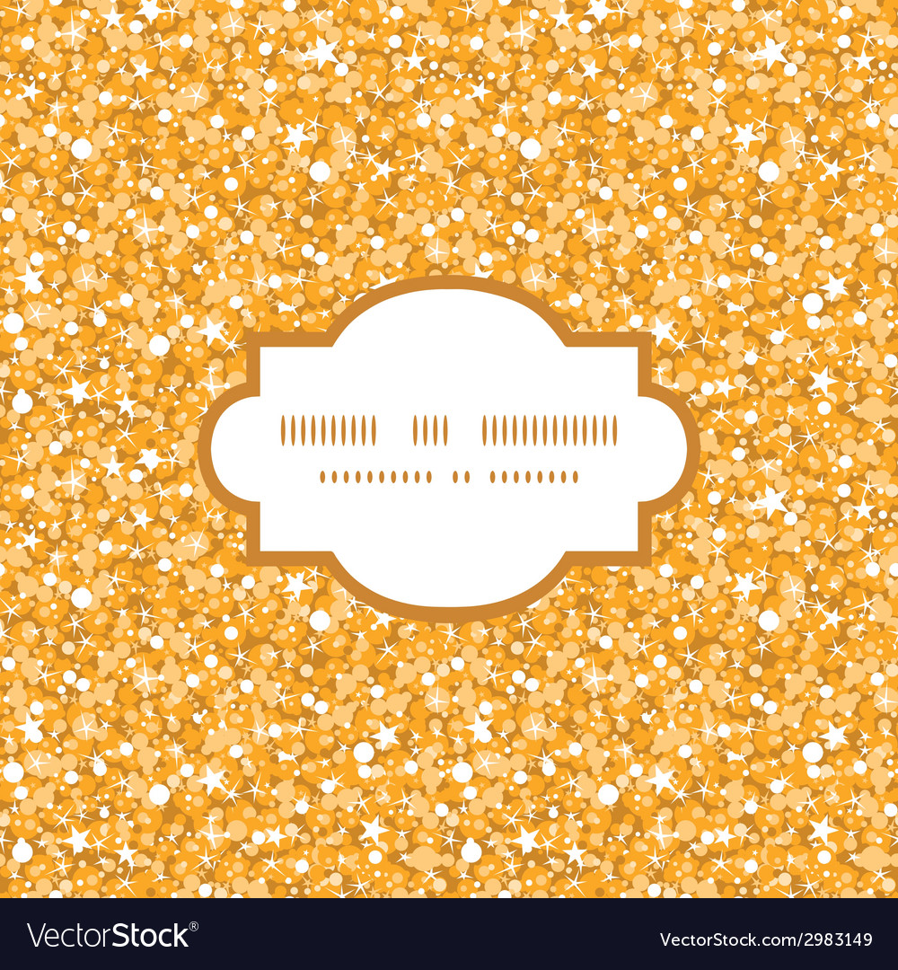 Golden shiny glitter texture frame seamless vector | Price: 1 Credit (USD $1)
