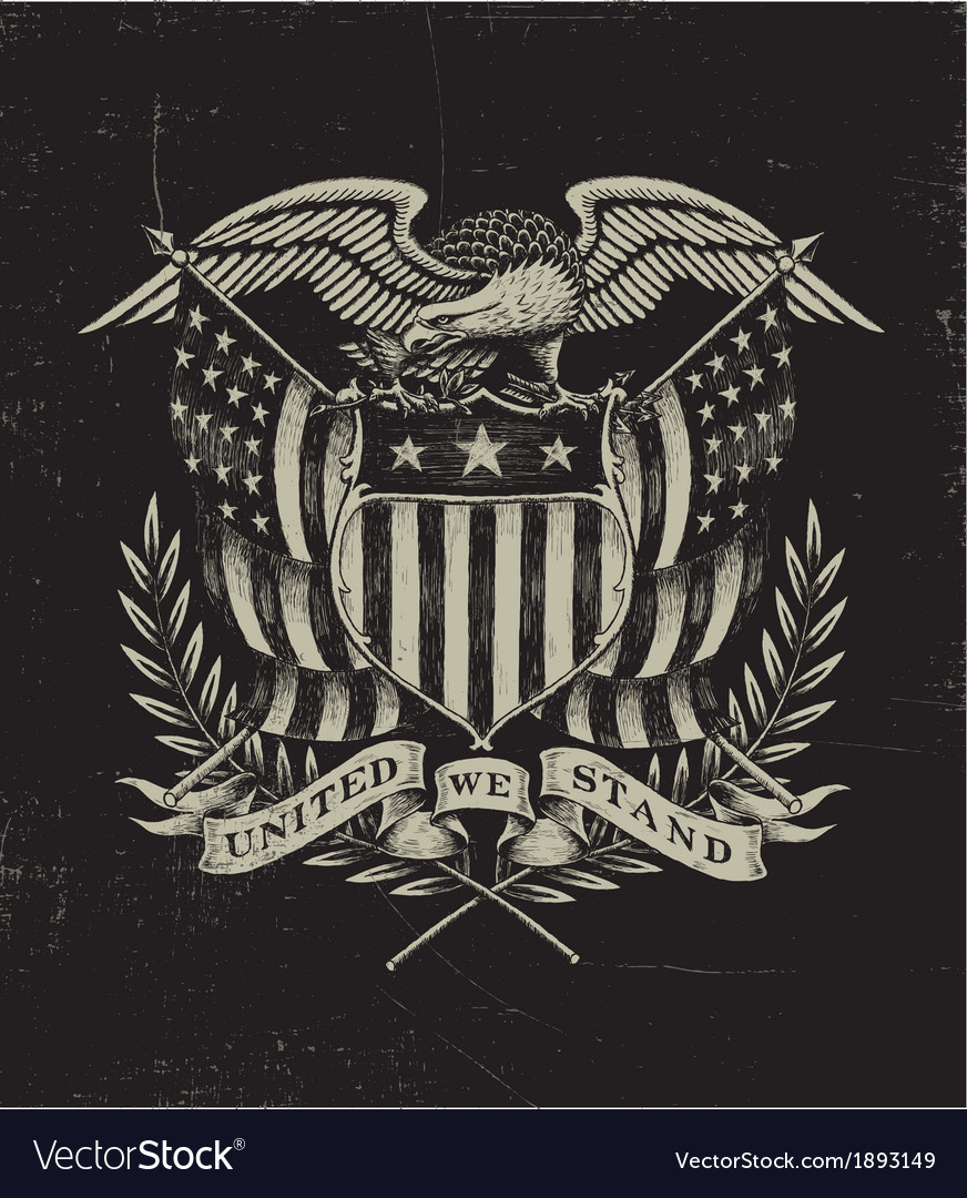 Hand drawn american eagle vector | Price: 3 Credit (USD $3)