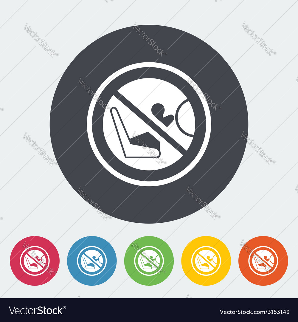 Lower anchors and tethers for children vector | Price: 1 Credit (USD $1)