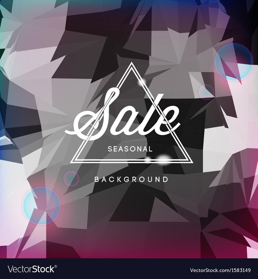 Sale discount poster polygonal background vector | Price: 1 Credit (USD $1)
