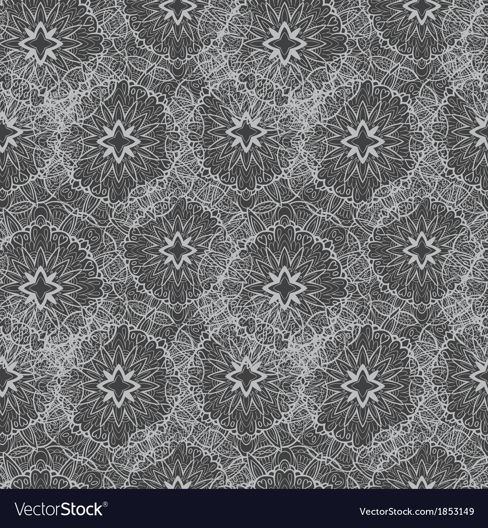 Seamless abstract monochrome pattern vector | Price: 1 Credit (USD $1)