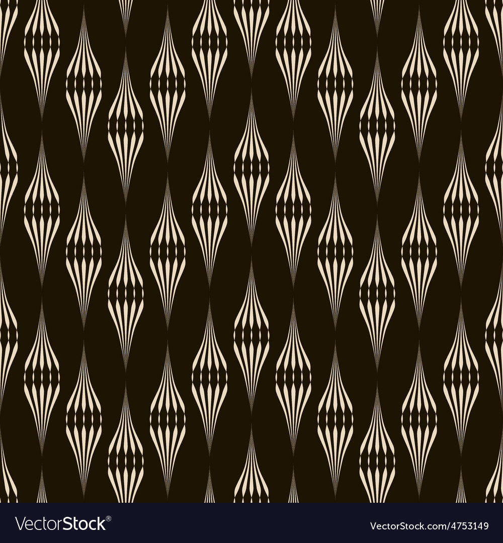 Seamless pattern monochrome ornament with stylized vector | Price: 1 Credit (USD $1)