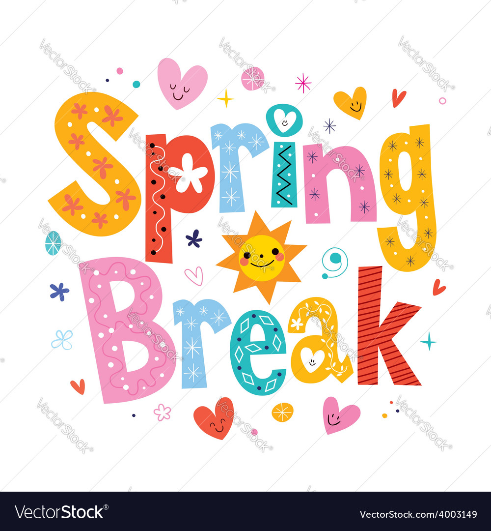 Spring break vector | Price: 1 Credit (USD $1)