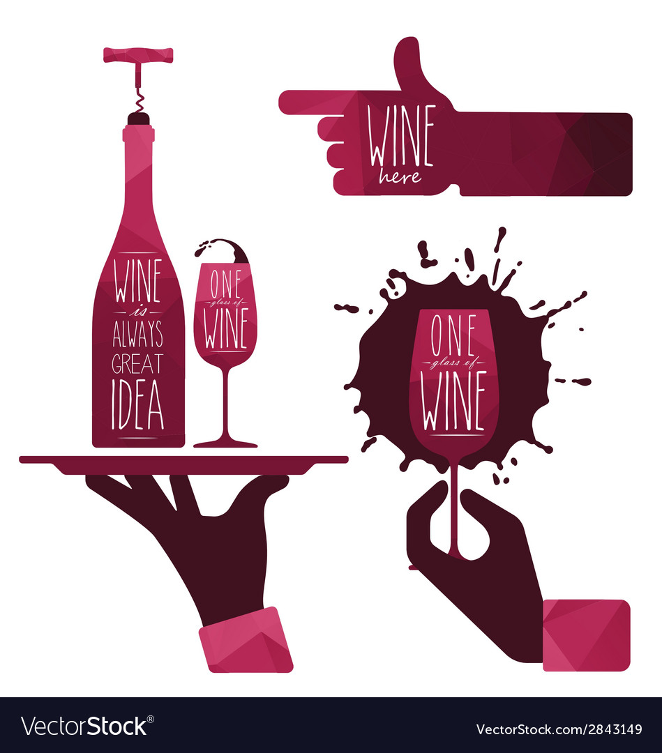 Wine glass and wine bottle vector   Price: 1 Credit (USD $1)