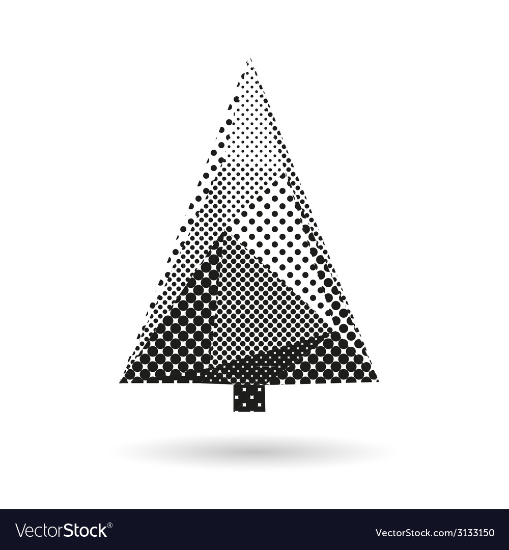 Christmas tree abstract isolated vector   Price: 1 Credit (USD $1)