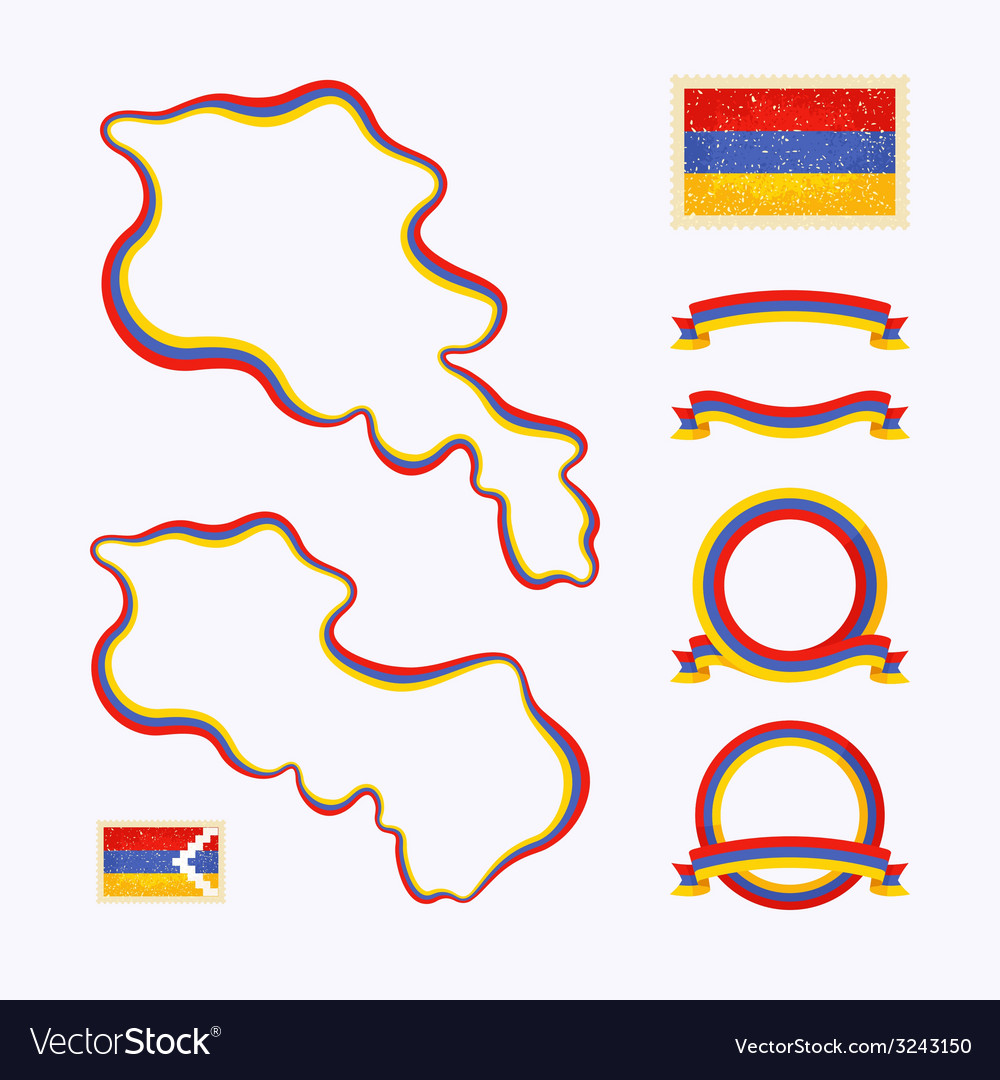 Colors of armenia vector | Price: 1 Credit (USD $1)