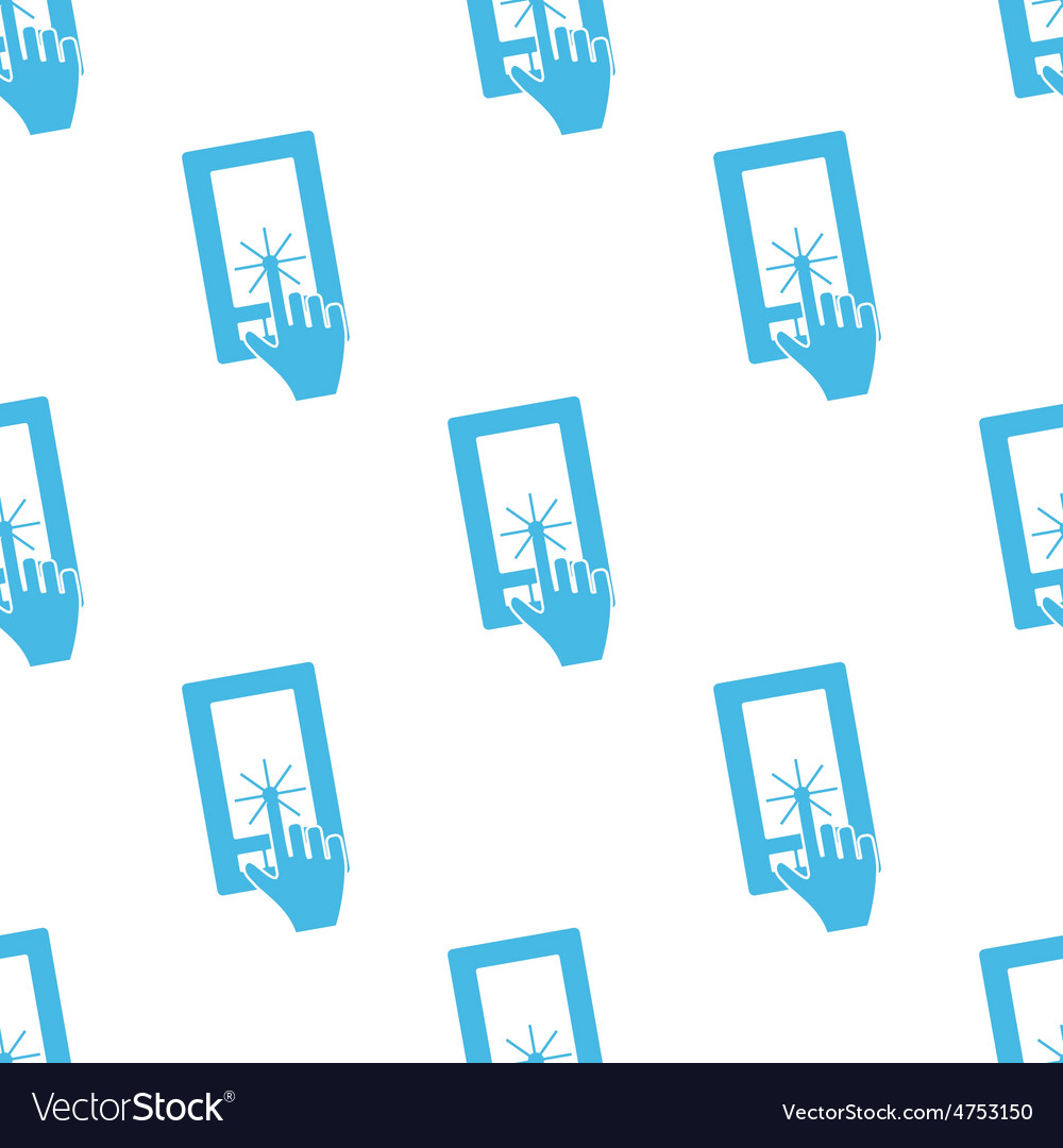 Flat touching screen pattern vector | Price: 1 Credit (USD $1)