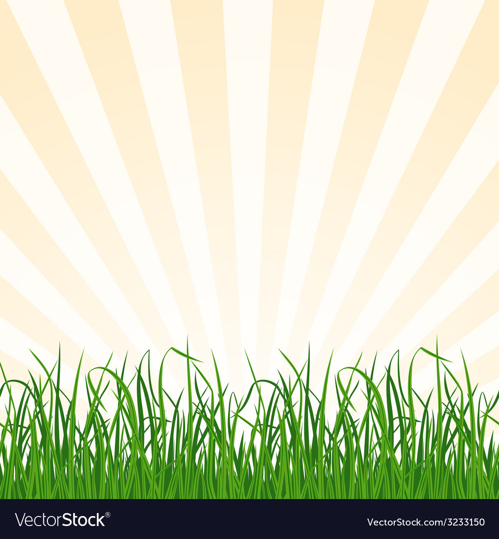 Landscape background with grass and sky vector | Price: 1 Credit (USD $1)