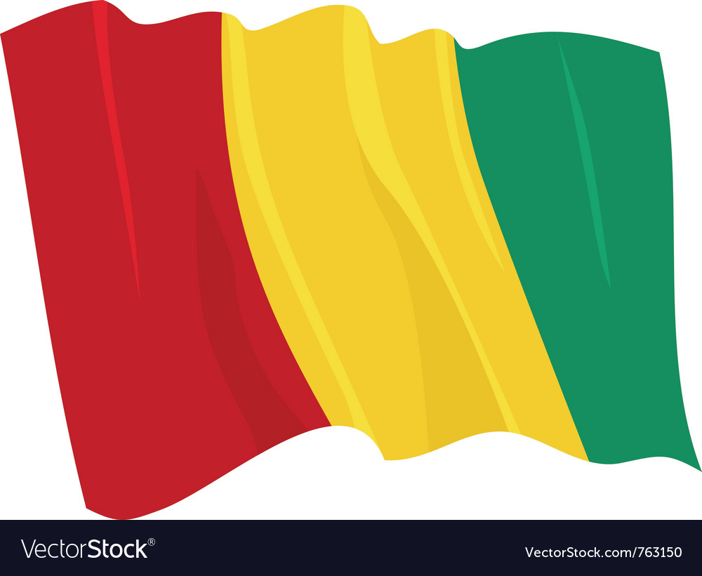 Political waving flag of guinea vector | Price: 1 Credit (USD $1)