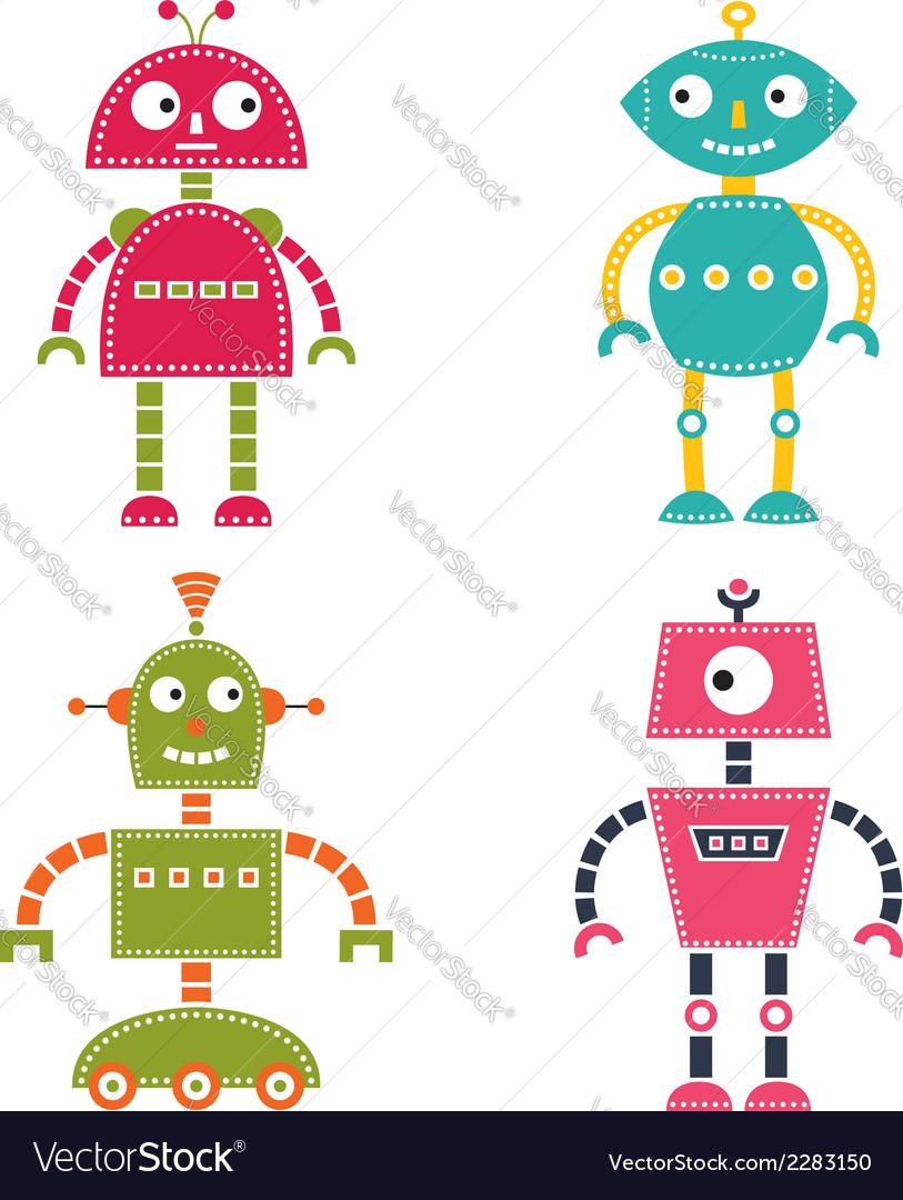 Robots set vector | Price: 1 Credit (USD $1)