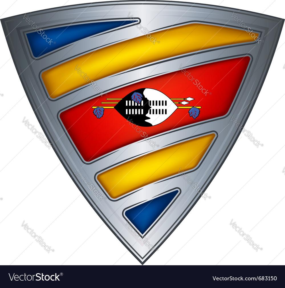 Steel shield swaziland vector | Price: 1 Credit (USD $1)