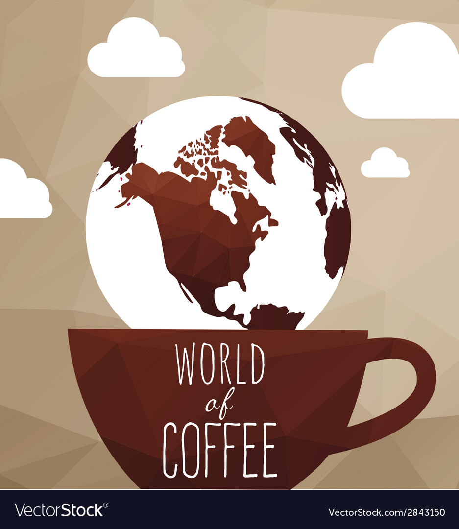 World coffe vector | Price: 1 Credit (USD $1)