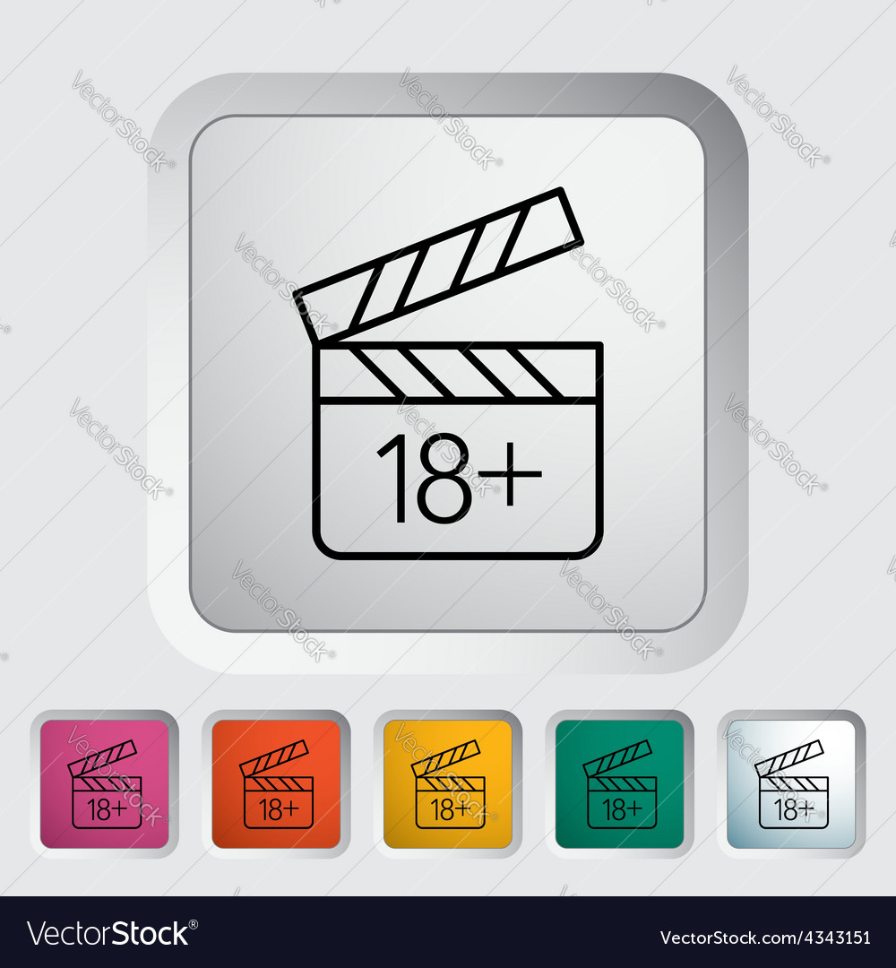 Adult movie clapper vector | Price: 1 Credit (USD $1)