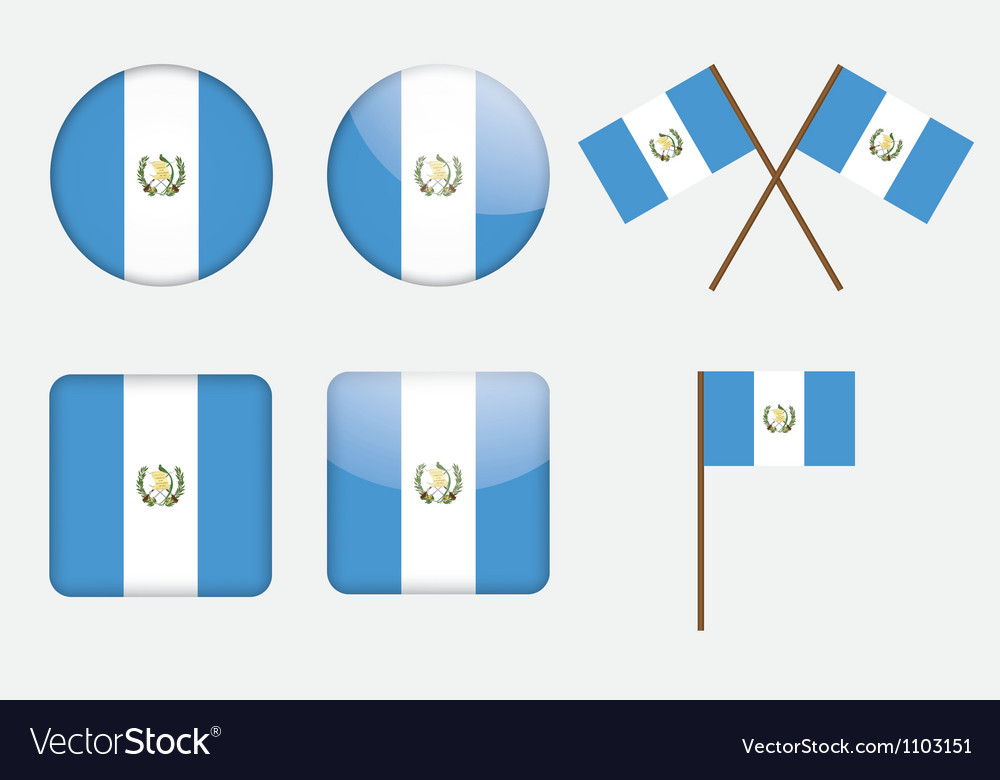 Badges with flag of guatemala vector | Price: 1 Credit (USD $1)