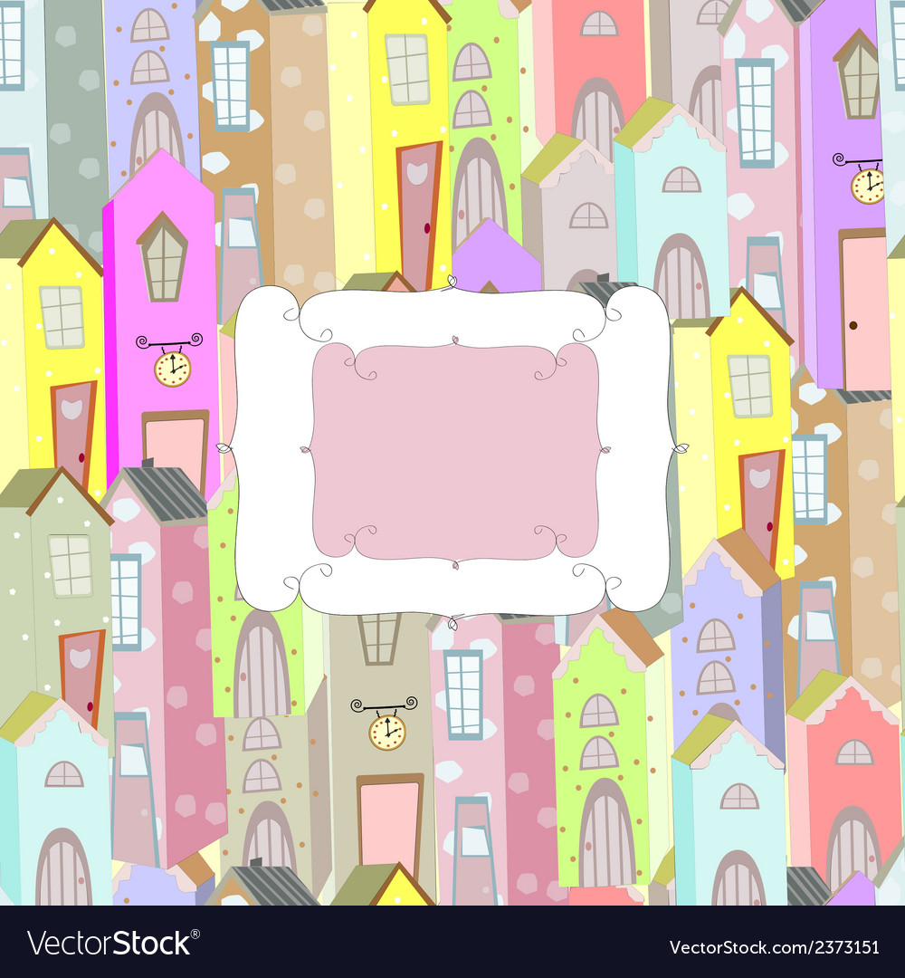 City background frame vector   Price: 1 Credit (USD $1)