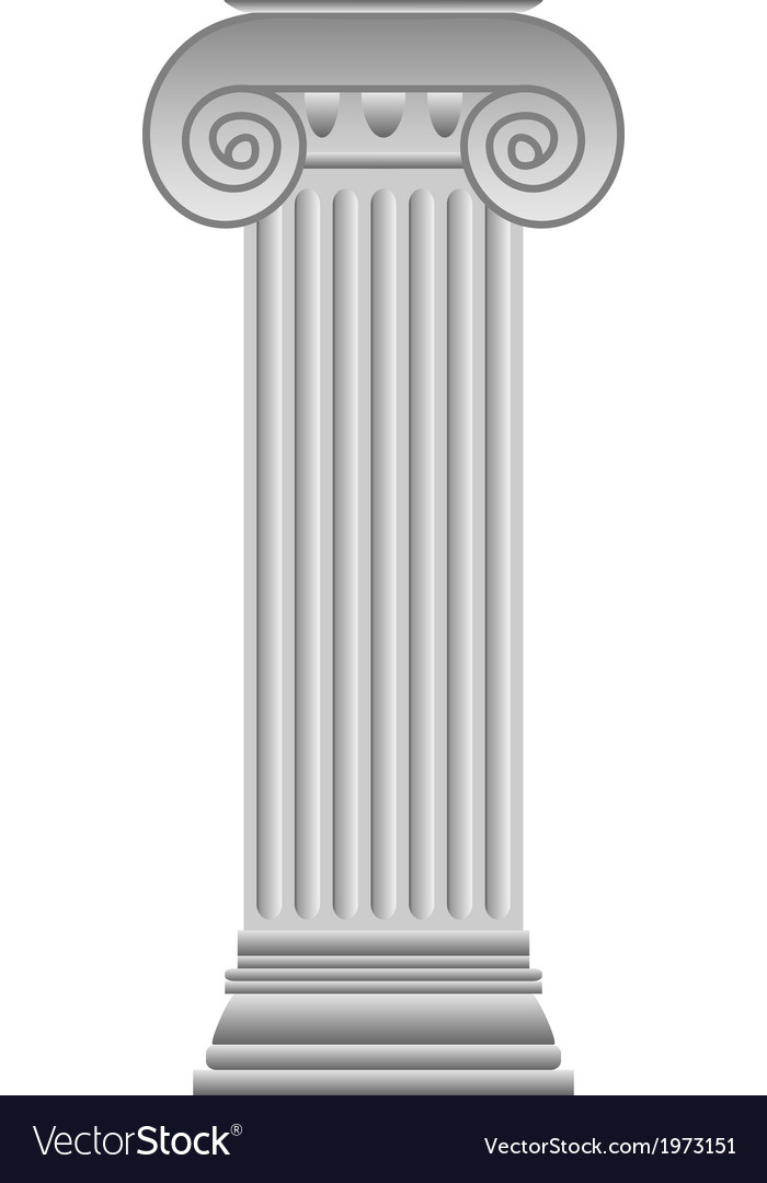 Ionic column vector | Price: 1 Credit (USD $1)