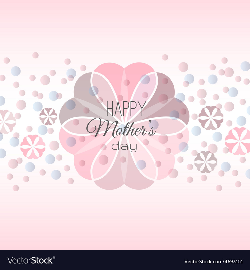 Lettering happy mothers day card vector | Price: 1 Credit (USD $1)