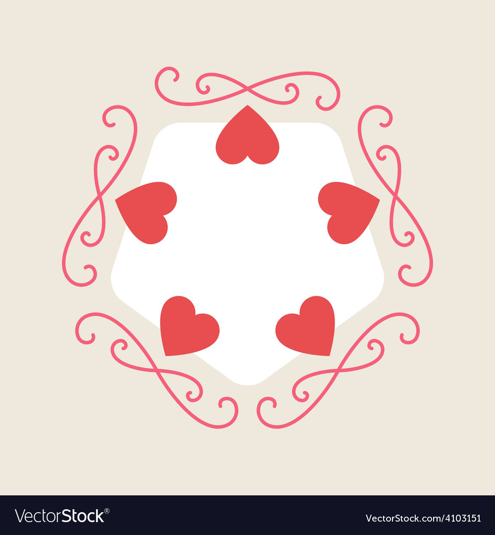 Romance background for valentine day card with vector | Price: 1 Credit (USD $1)