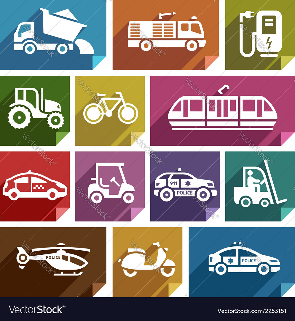 Transport flat icon-06 vector | Price: 1 Credit (USD $1)