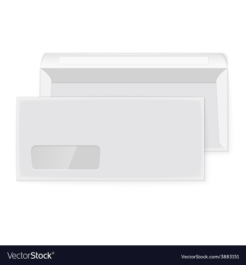 Two blank envelopes opened and closed vector | Price: 1 Credit (USD $1)