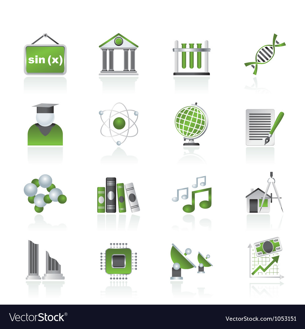 University and higher education icons vector | Price: 1 Credit (USD $1)