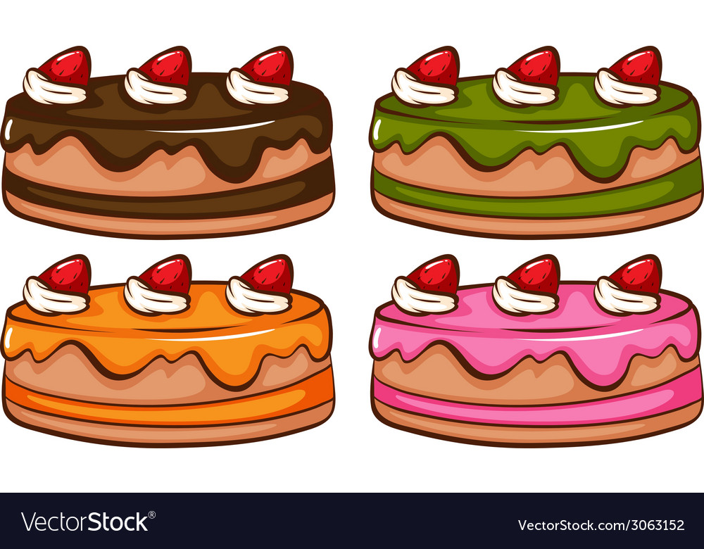 A simple coloured sketch of the cakes vector | Price: 1 Credit (USD $1)