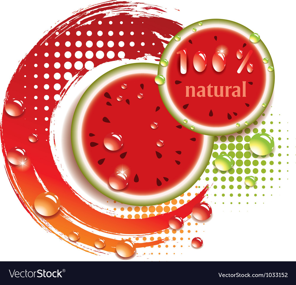 Abstract background with fresh watermelon vector | Price: 1 Credit (USD $1)