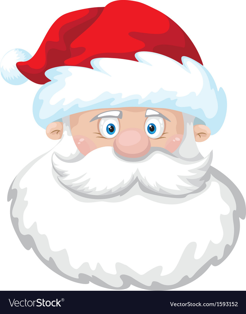 Cheerful santa head vector | Price: 1 Credit (USD $1)