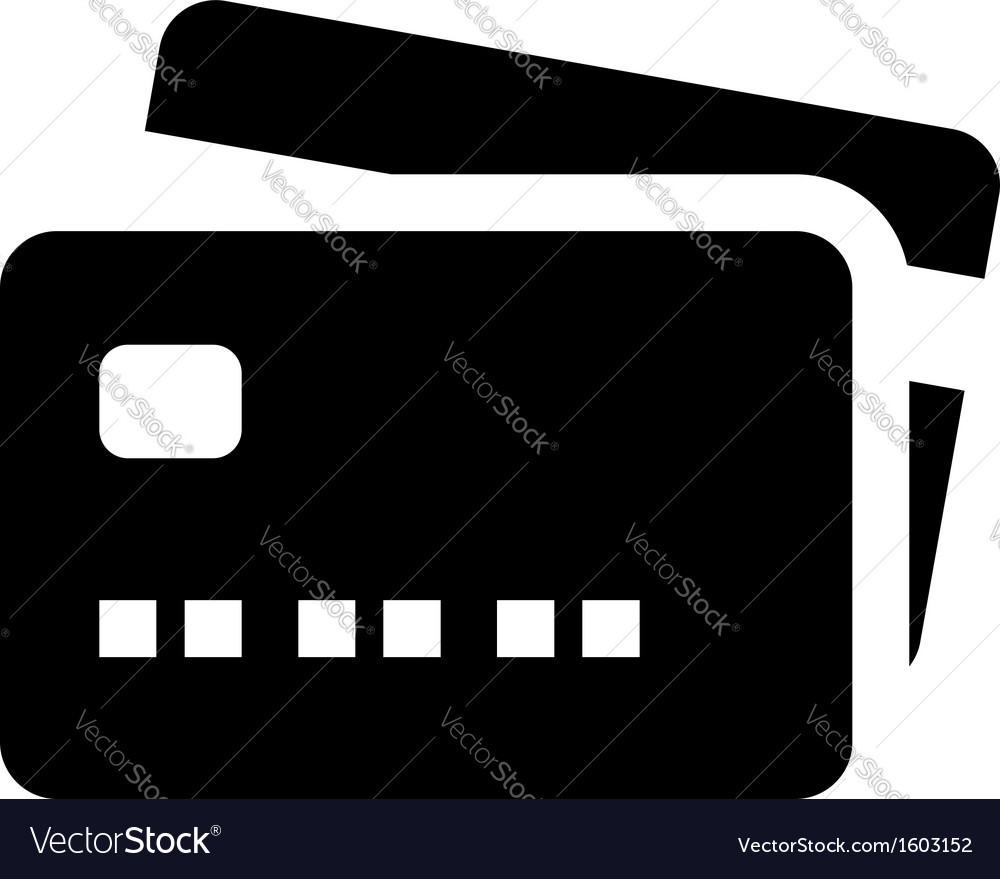 Credit card icon vector | Price: 1 Credit (USD $1)