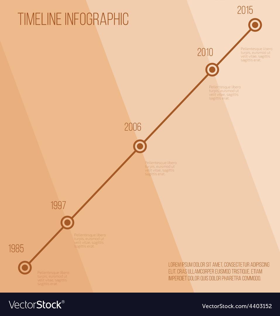 Flat beige diagonal timeline infographic vector | Price: 1 Credit (USD $1)