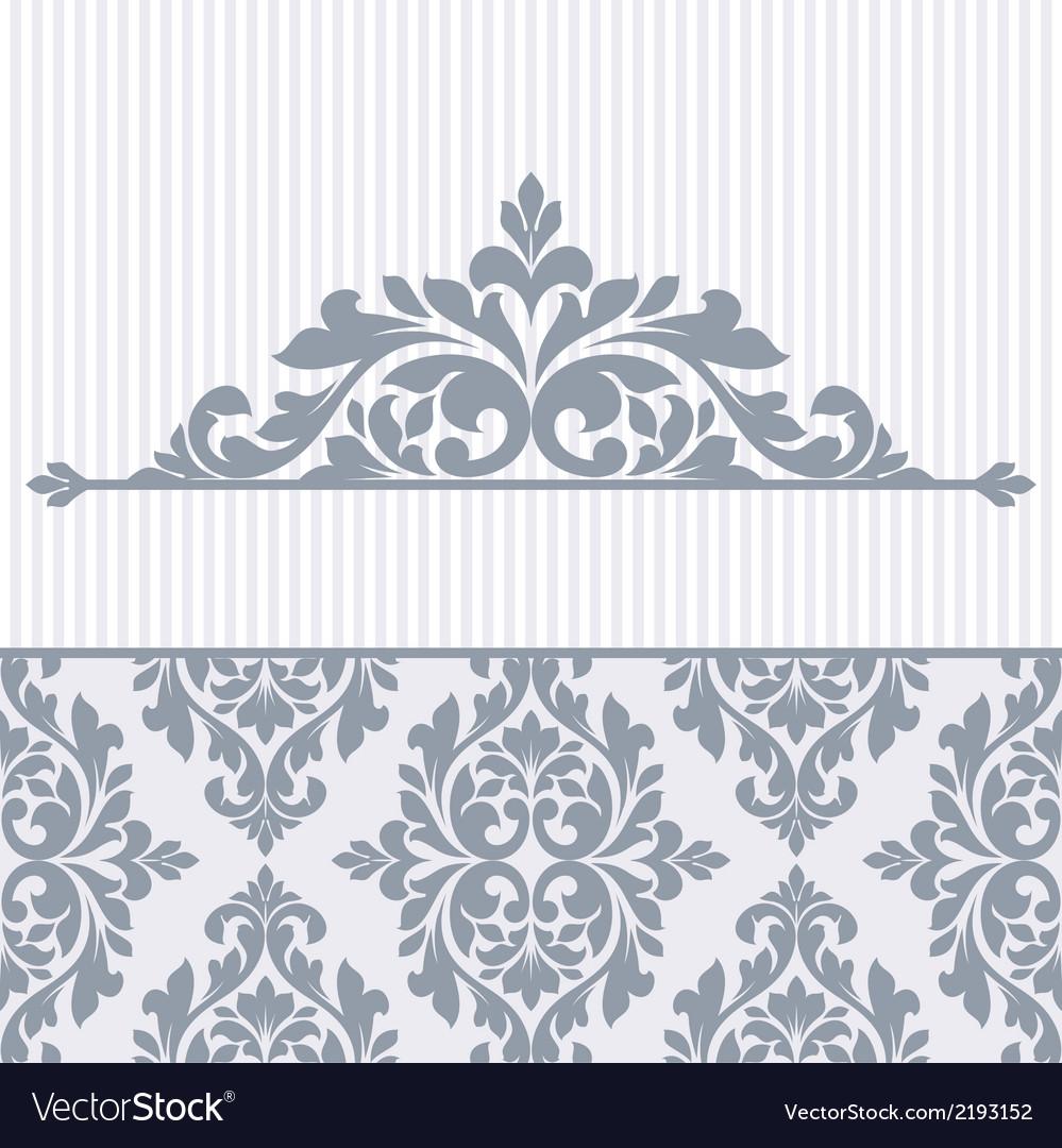 Floral invitation card vector   Price: 1 Credit (USD $1)