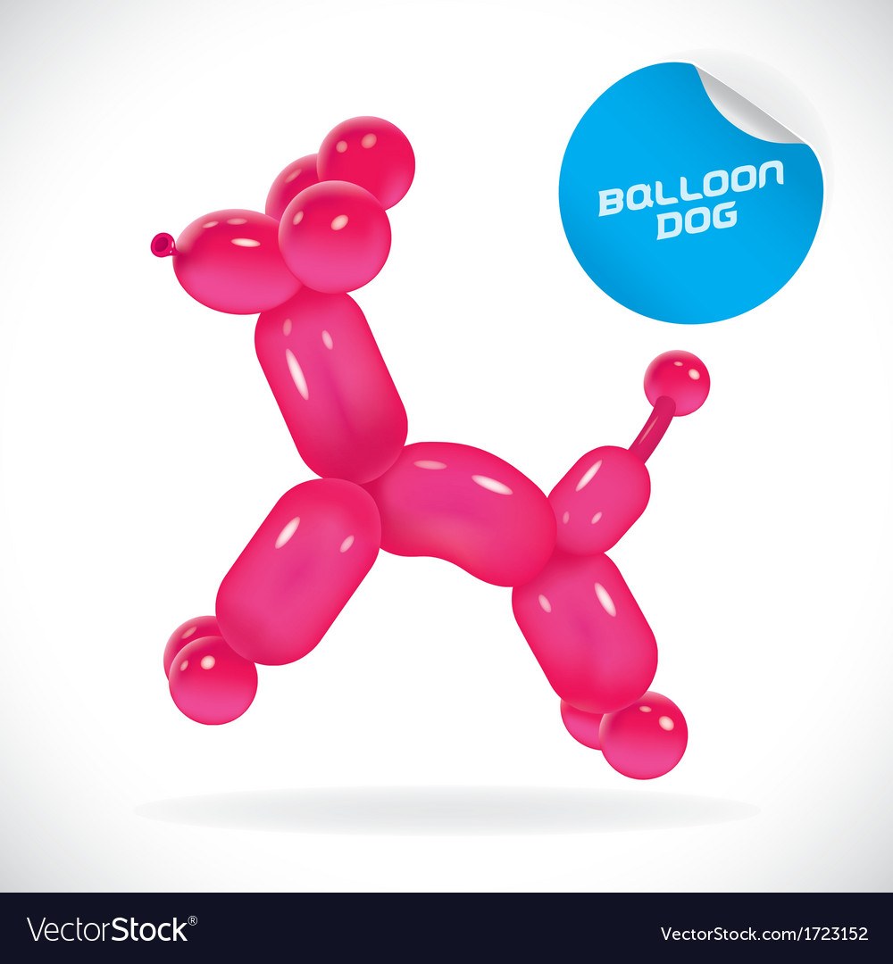 Glossy balloon dog vector | Price: 1 Credit (USD $1)