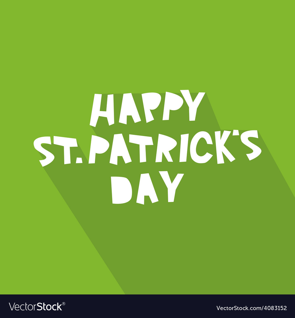 Happy st patricks day card design vector | Price: 1 Credit (USD $1)