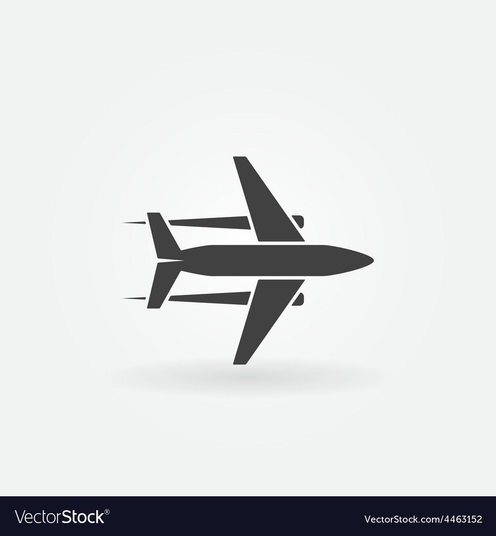 Plane icon or logo vector | Price: 1 Credit (USD $1)
