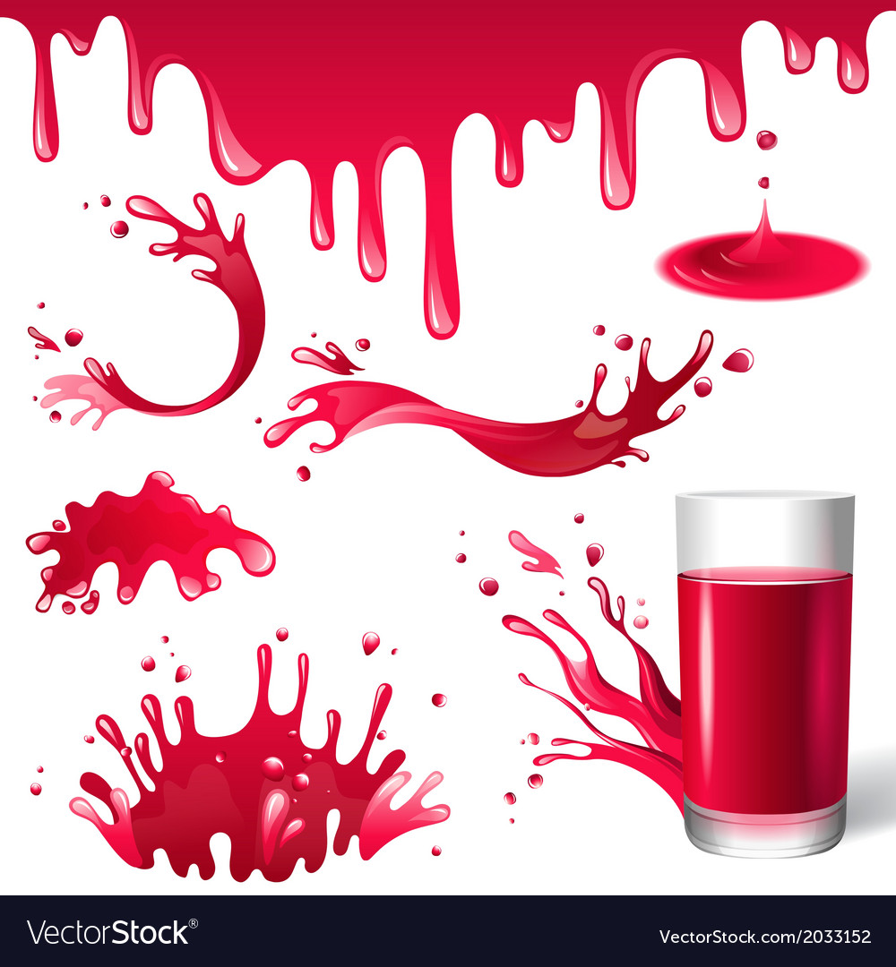 Red juice splashes vector | Price: 1 Credit (USD $1)