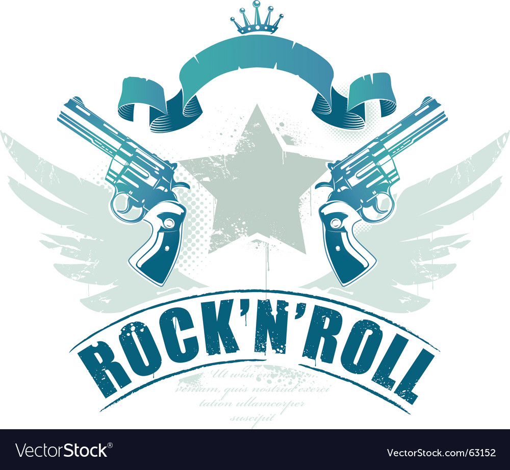 Rock n roll image vector | Price: 1 Credit (USD $1)