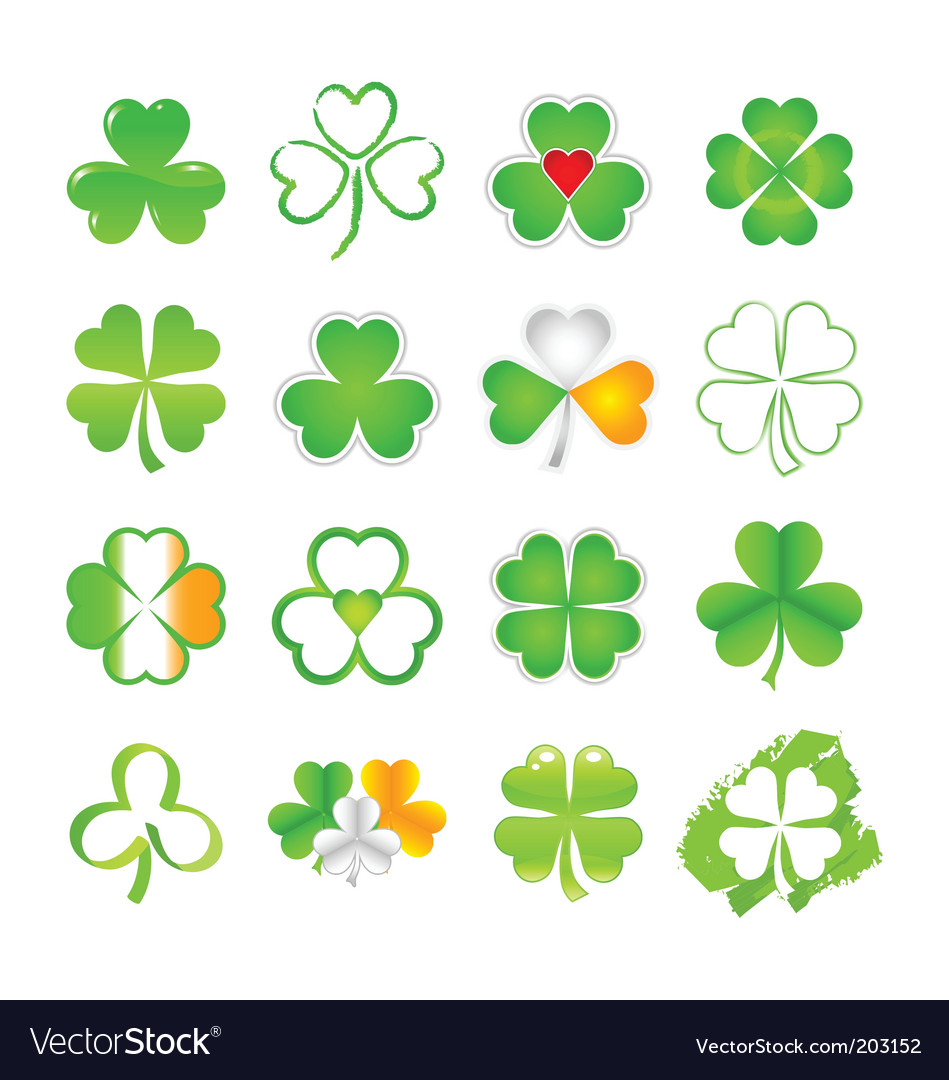 Selection of shamrock vector | Price: 1 Credit (USD $1)