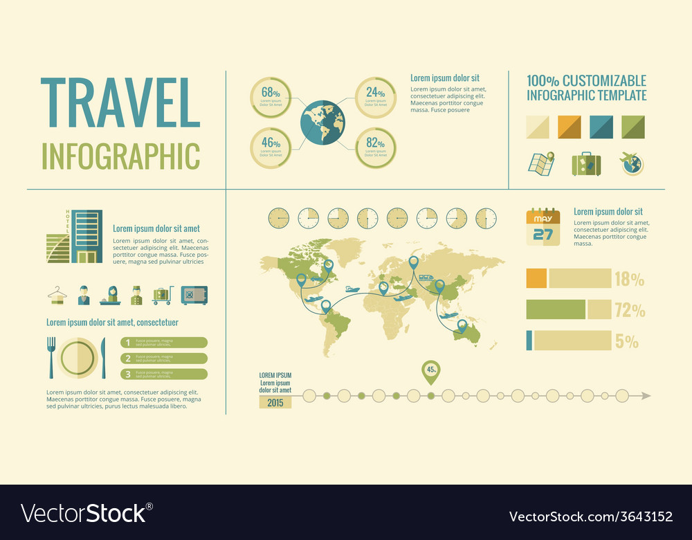 Travel infographic elements vector | Price: 1 Credit (USD $1)