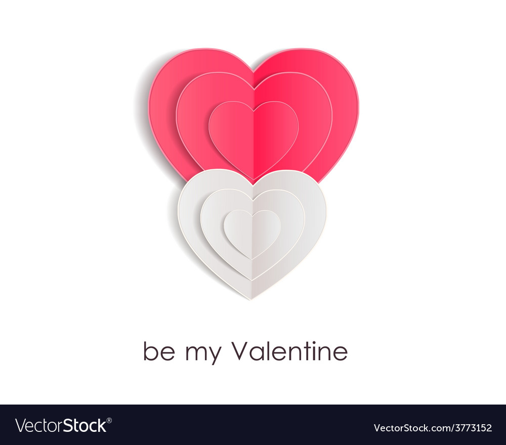 Valentines day background with paper hearts vector   Price: 1 Credit (USD $1)