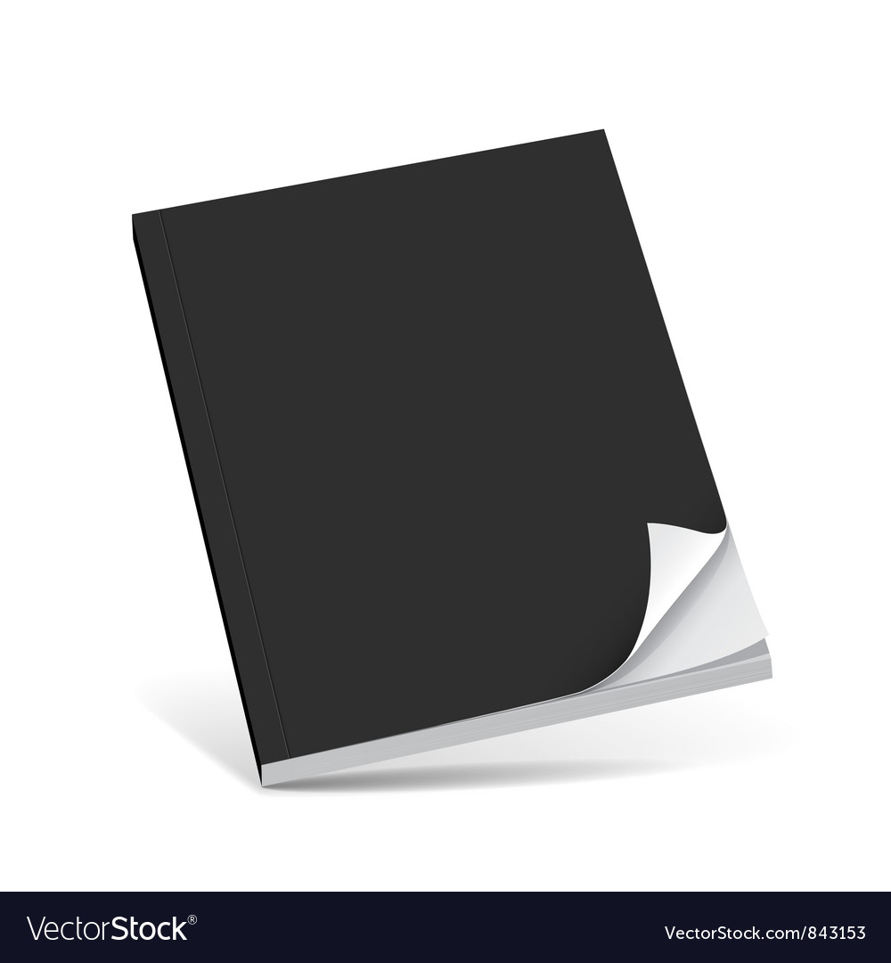 Cover black book with blank vector | Price: 1 Credit (USD $1)