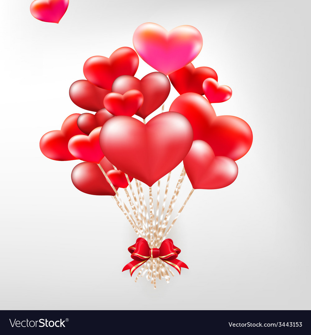Elegant valentines day heart balloons eps 10 vector | Price: 1 Credit (USD $1)
