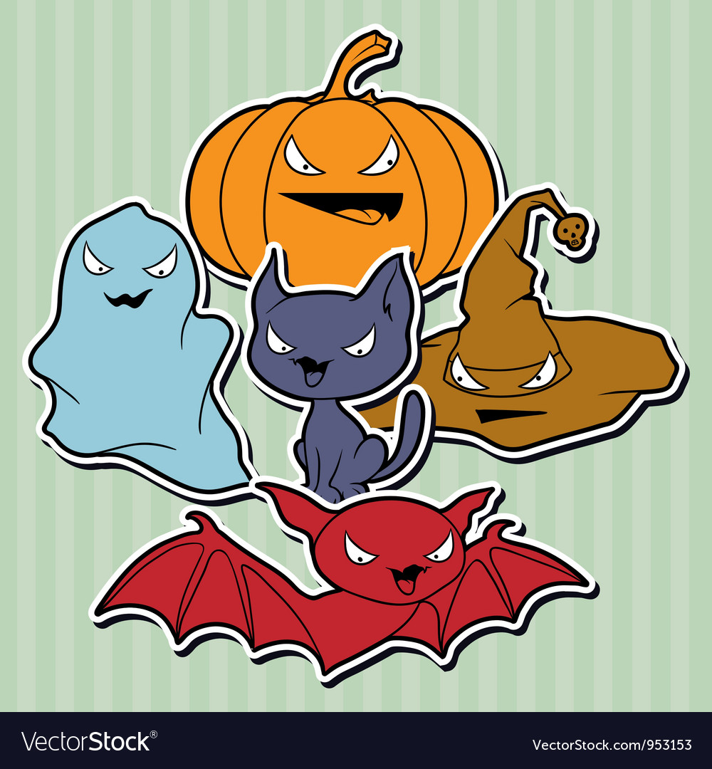Halloween elements set vector | Price: 1 Credit (USD $1)
